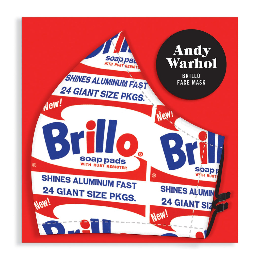 Andy Warhol Brillo Face Mask Face Masks Andy Warhol Collection