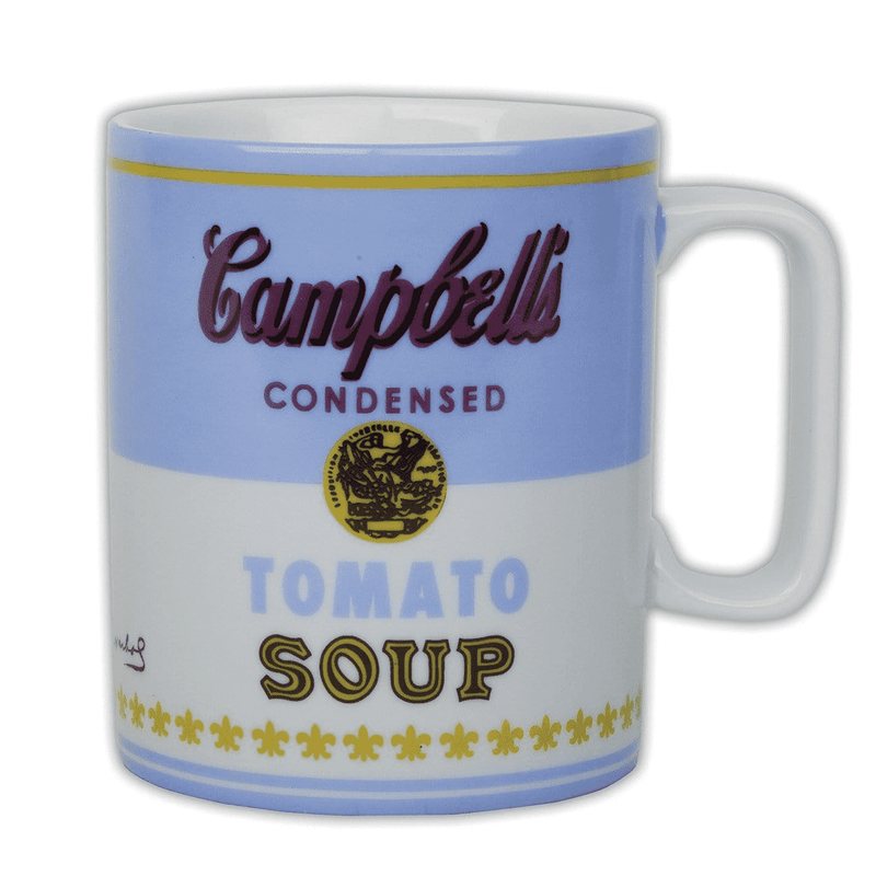 Andy Warhol Campbell's Soup Boxed Mug Blue Ceramic Mugs Galison