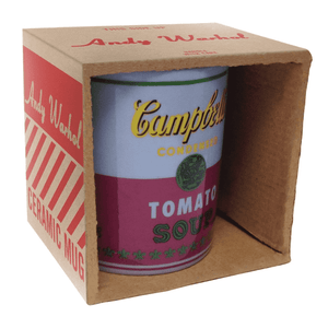 Andy Warhol Campbell's Soup Boxed Mug Red & Violet Ceramic Mugs Galison