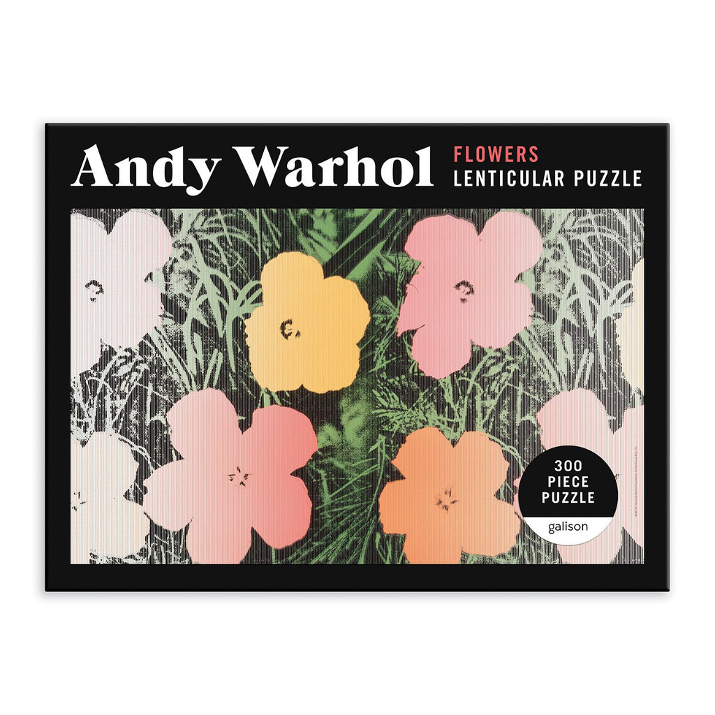 Andy Warhol Flowers 300 Piece Lenticular Puzzle 300 Piece Lenticular Puzzles Andy Warhol Collection