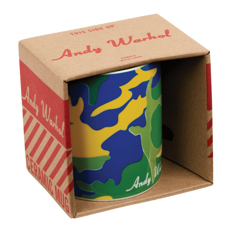Andy Warhol Green Camouflage Mug Sale Galison