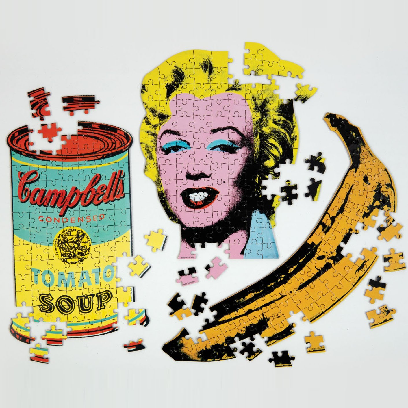 Andy Warhol Mini Shaped Puzzle Banana Mini-Shaped Puzzles Galison