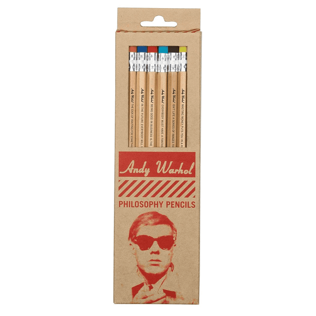 Andy Warhol Philosophy Pencils Pens and Pencils Galison
