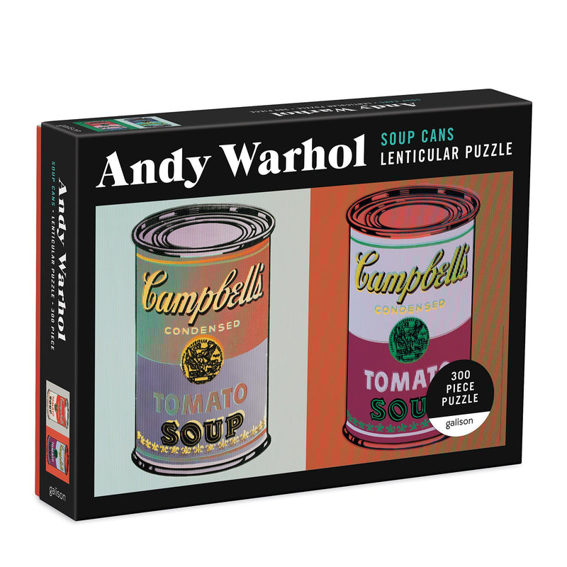 Andy Warhol Soup Cans 300 Piece Lenticular Puzzle 300 Piece Lenticular Puzzles Andy Warhol Collection