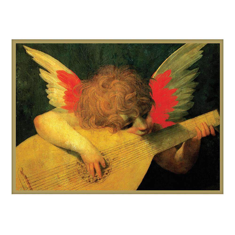 Angel Musician Half Note Boxed Cards Holiday Notecards Galison