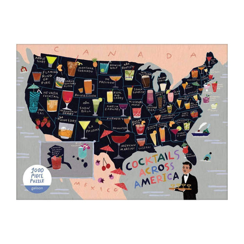 Anne Bentley Cocktail Map Of The USA 1000 Piece Puzzle 1000 Piece Puzzles Galison