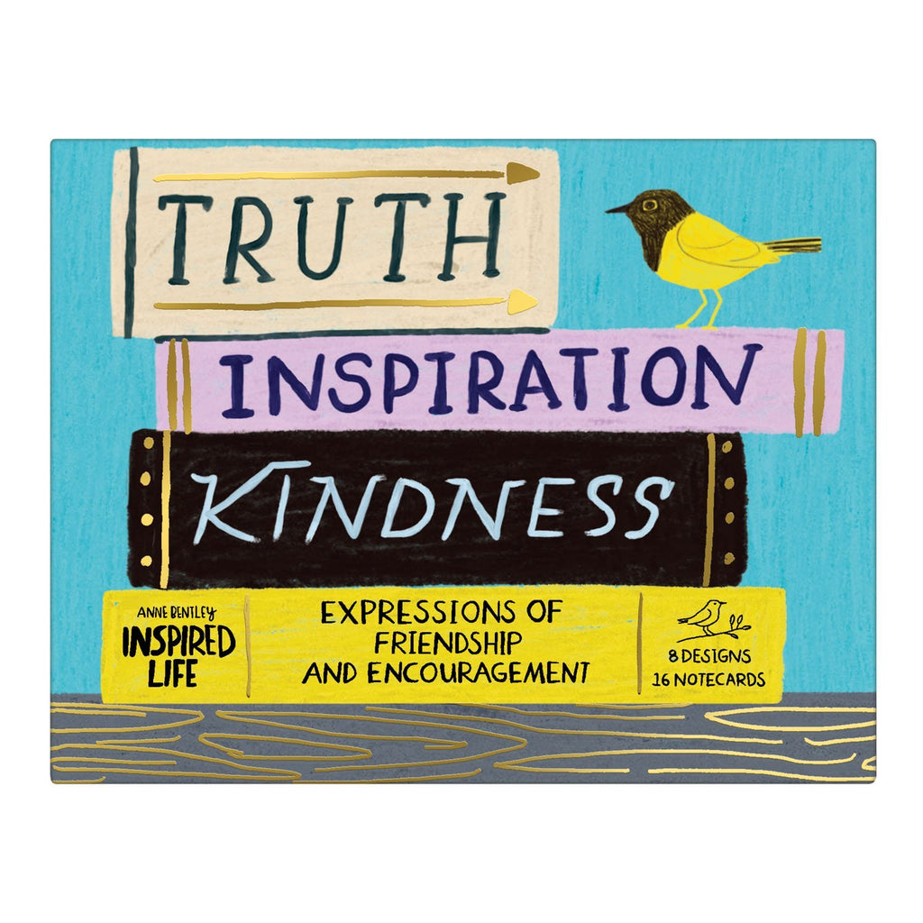 Anne Bentley Inspired Life: Truth, Inspiration, Kindness Greeting Assortment Notecards Greeting Cards Galison