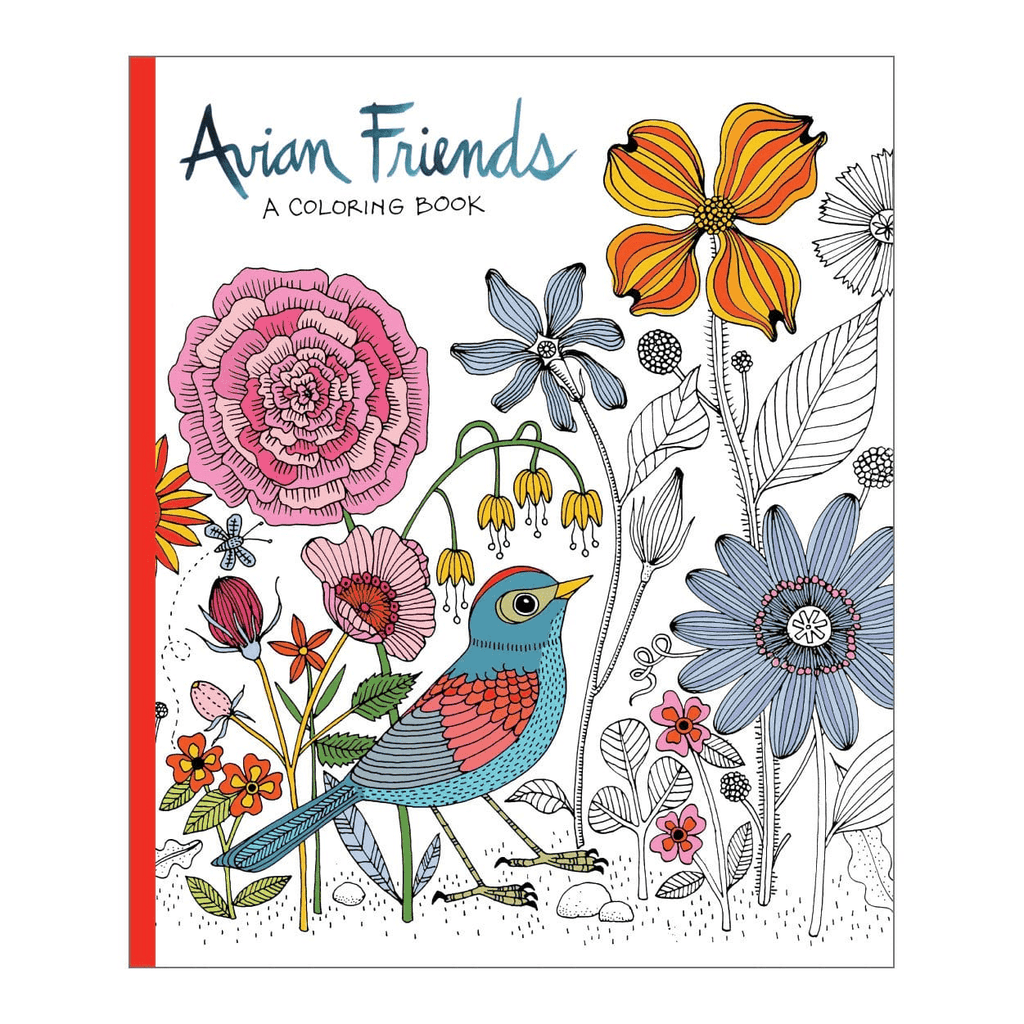 Avian Friends Coloring Book Sale Galison