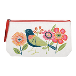 Avian Friends Embroidered Handmade Pouch Handmade Pouches Galison