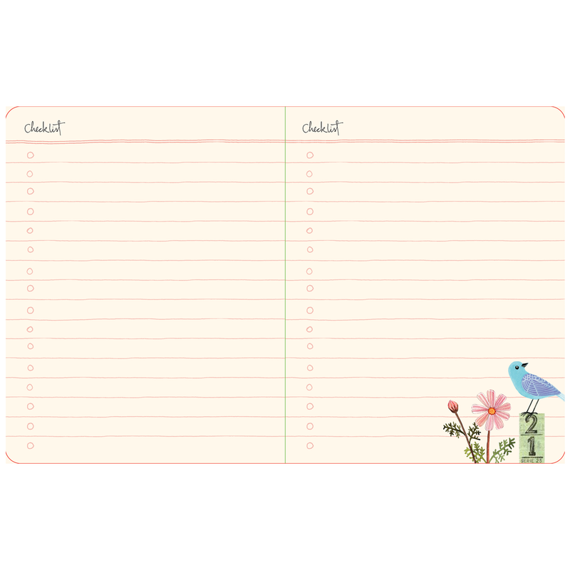 Avian Friends Pocket Undated Planner Planners Galison