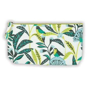 Avian Tropics Handmade Embroidered Pouch Handmade Pouches Galison