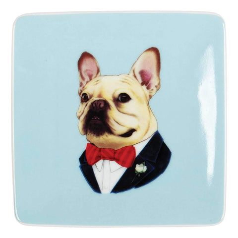 Phat Dog Vintage Small Porcelain Tray