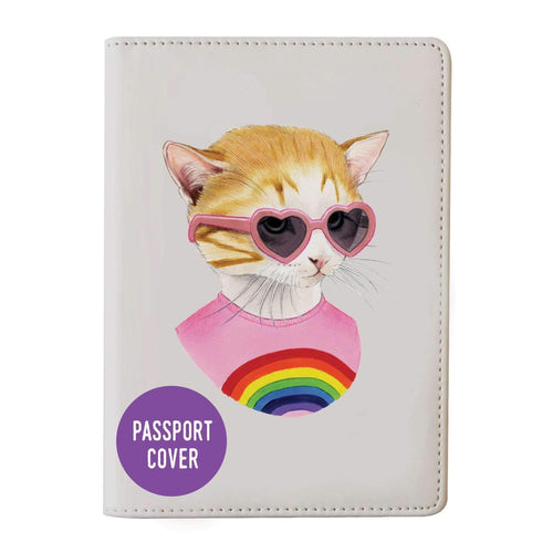 Berkley Bestiary Rainbow Kitten Passport Cover Travel Accessories Galison