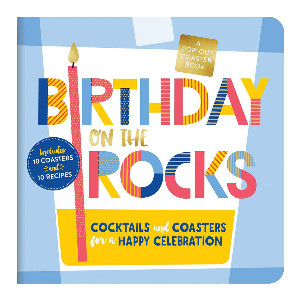 Birthday on the Rocks Coaster Book Coaster Sets Galison