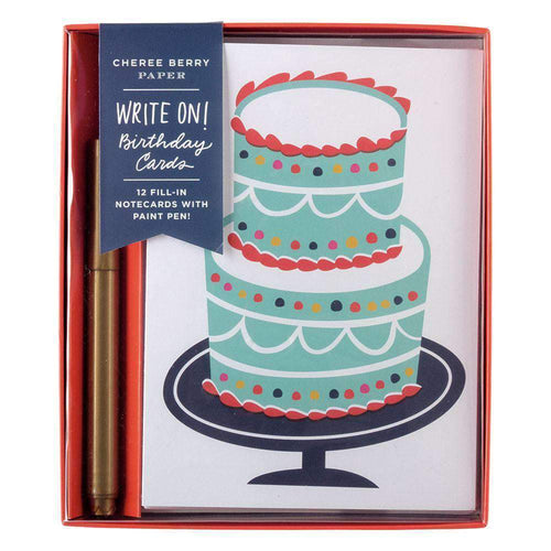 Birthday Write-on Cards DIY GREETING CARDS Galison