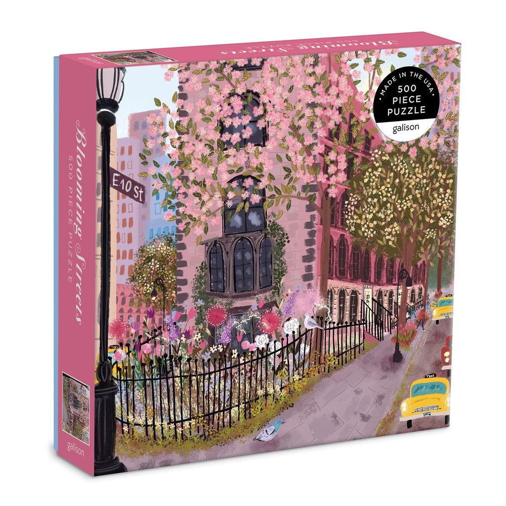 Blooming Streets 500 Piece Puzzle 500 Piece Puzzles Galison
