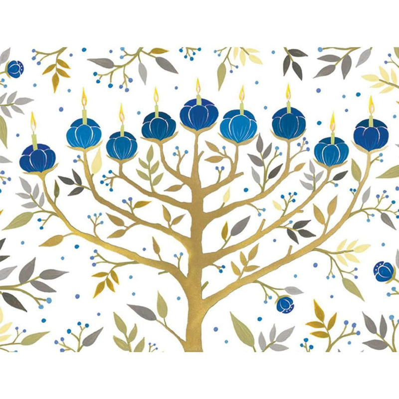 Chanukah Tree of Lights Holiday Embellished Notecards Holiday Notecards Galison