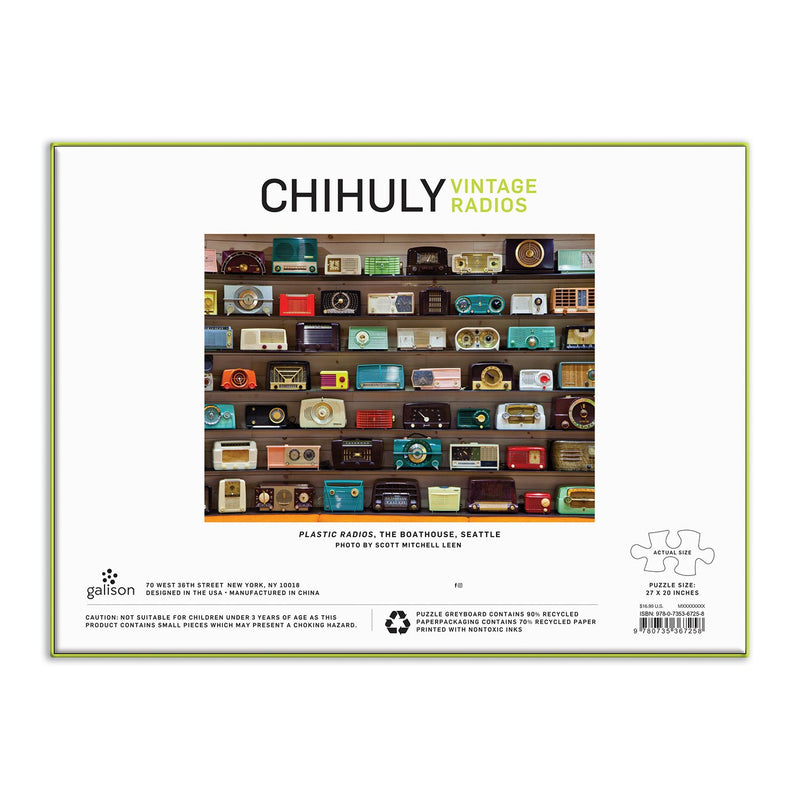Chihuly Vintage Radios 1000 Piece Puzzle 1000 Piece Puzzles Galison