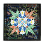 Christian Lacroix Flowers Galaxy Square Lacquer Tray Porcelain Trays Christian Lacroix Collection