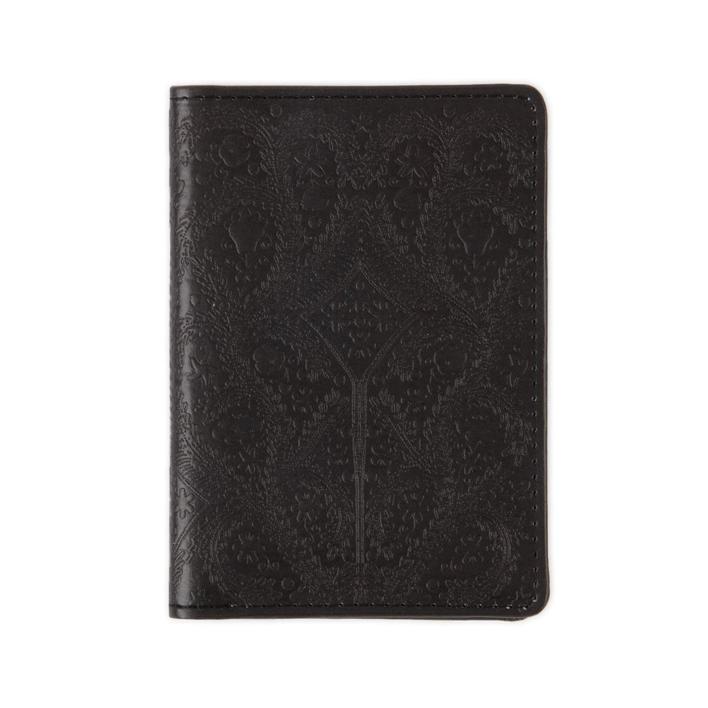 Christian Lacroix Heritage Collection Black Paseo Embossed Passport Holder Travel Accessories Christian Lacroix Collection