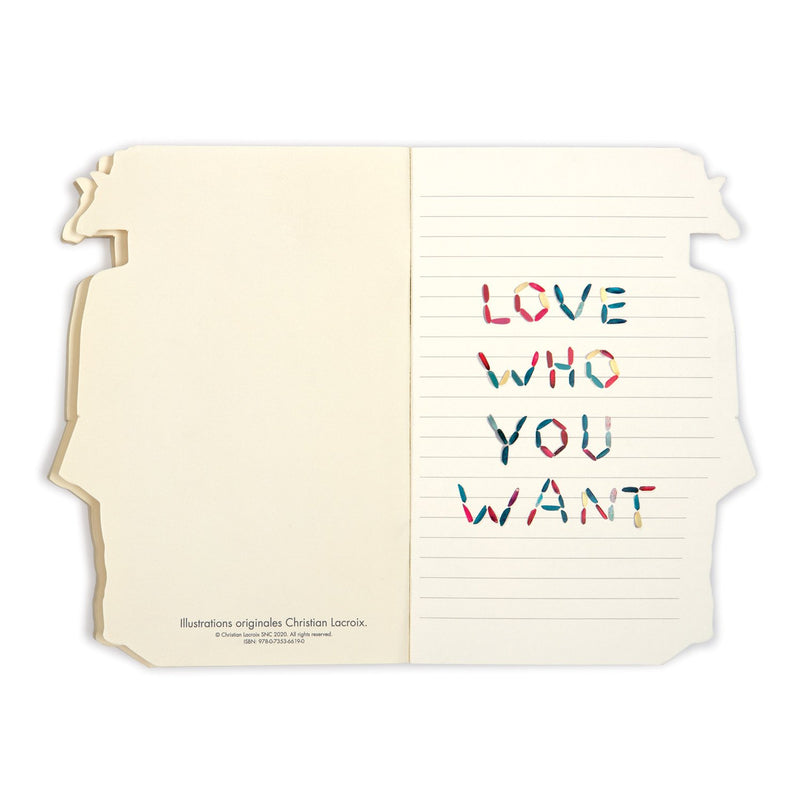 Christian Lacroix Heritage Collection Love Who You Want Die-Cut Notebook Journals and Notebooks Christian Lacroix Collection
