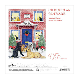 Christmas Cottage Square Boxed 1000 Piece Puzzle Holiday 1000 Piece Puzzles Galison