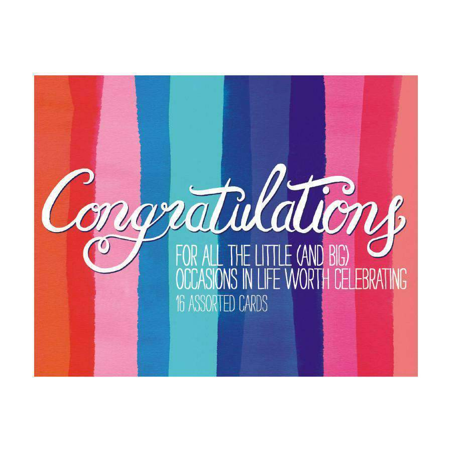 Congratulations Greeting Assortment Boxed Notecards Sale Galison