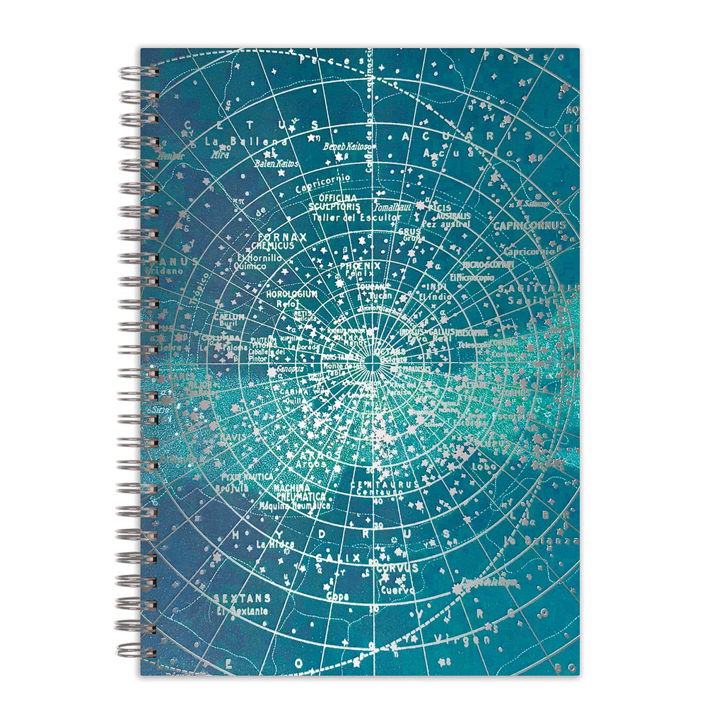 "Constellation Grid 7 x 10"" Wire-O Journal Journals and Notebooks Cosmos Collection"