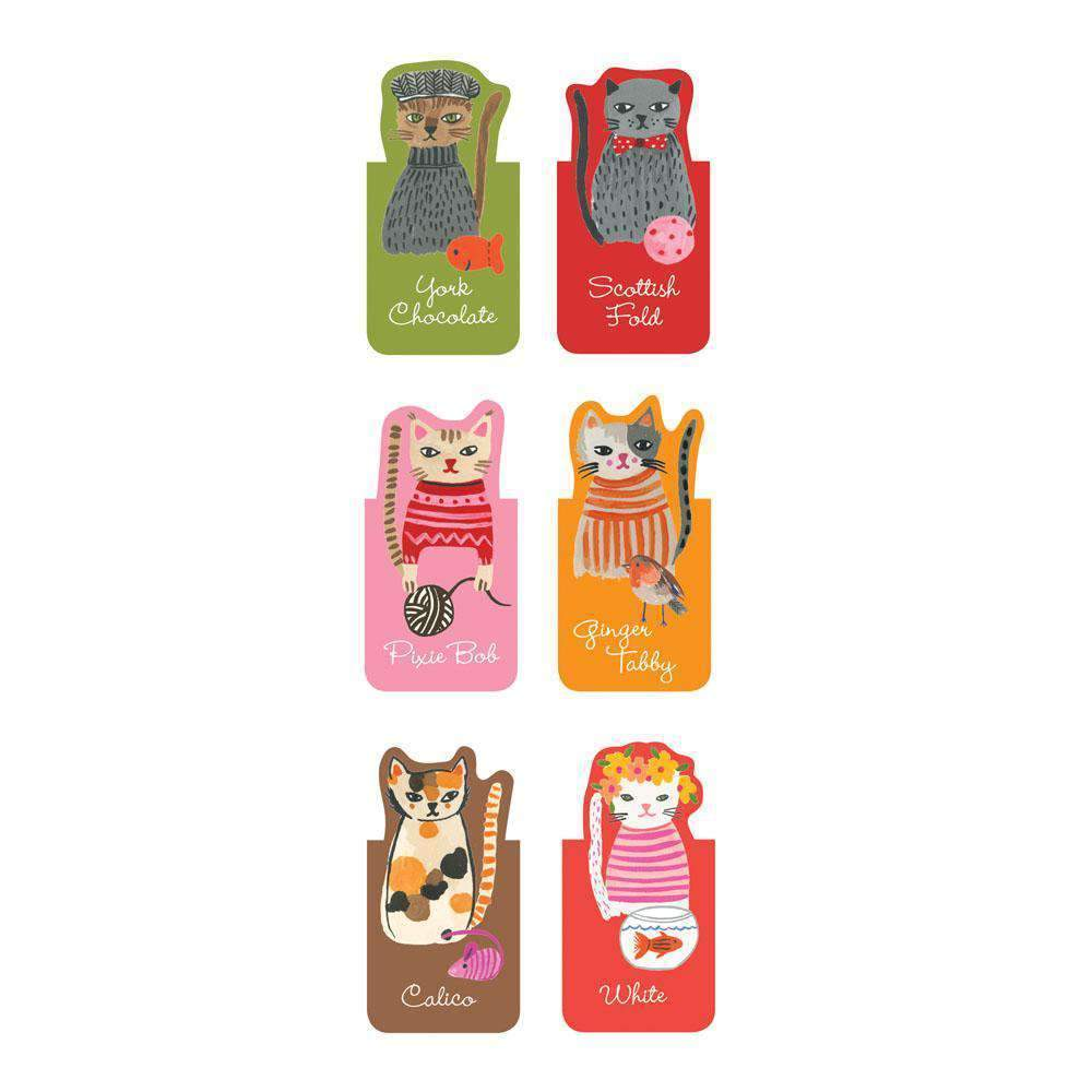Cool Cats Magnetic Bookmarks Bookmarks Galison