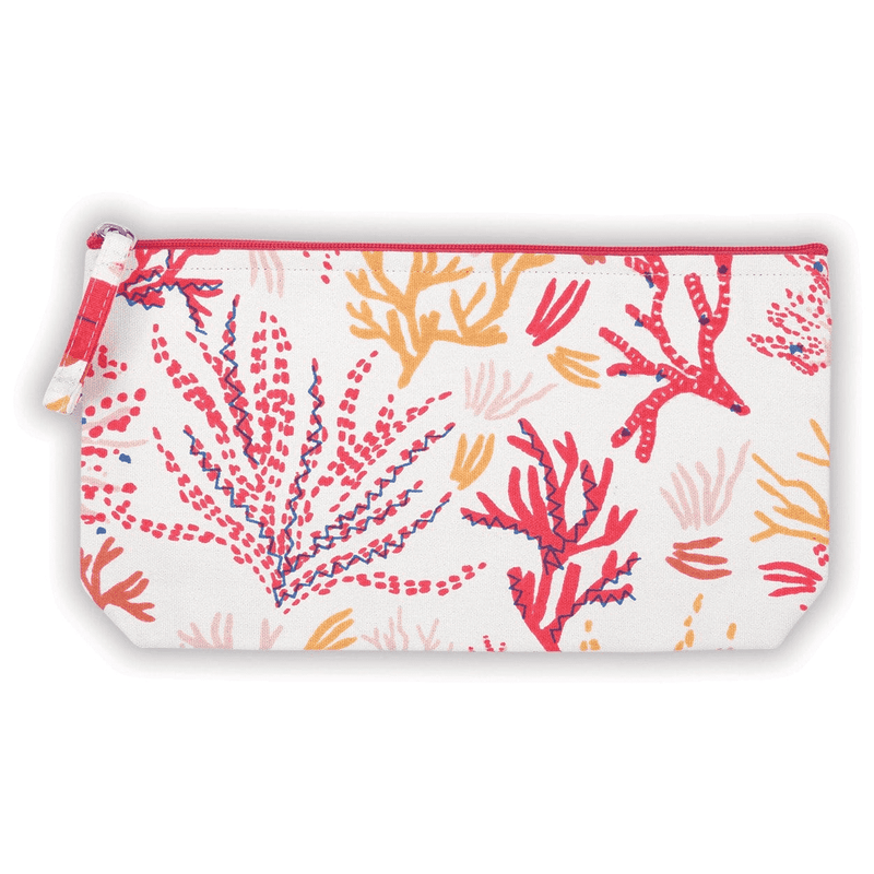 Coral Handmade Embroidered Pouch Handmade Pouches Galison
