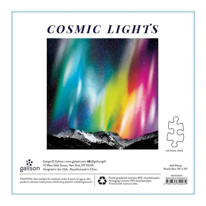 Cosmos Cosmic Lights 500 Piece Puzzle 500 Piece Puzzles Galison