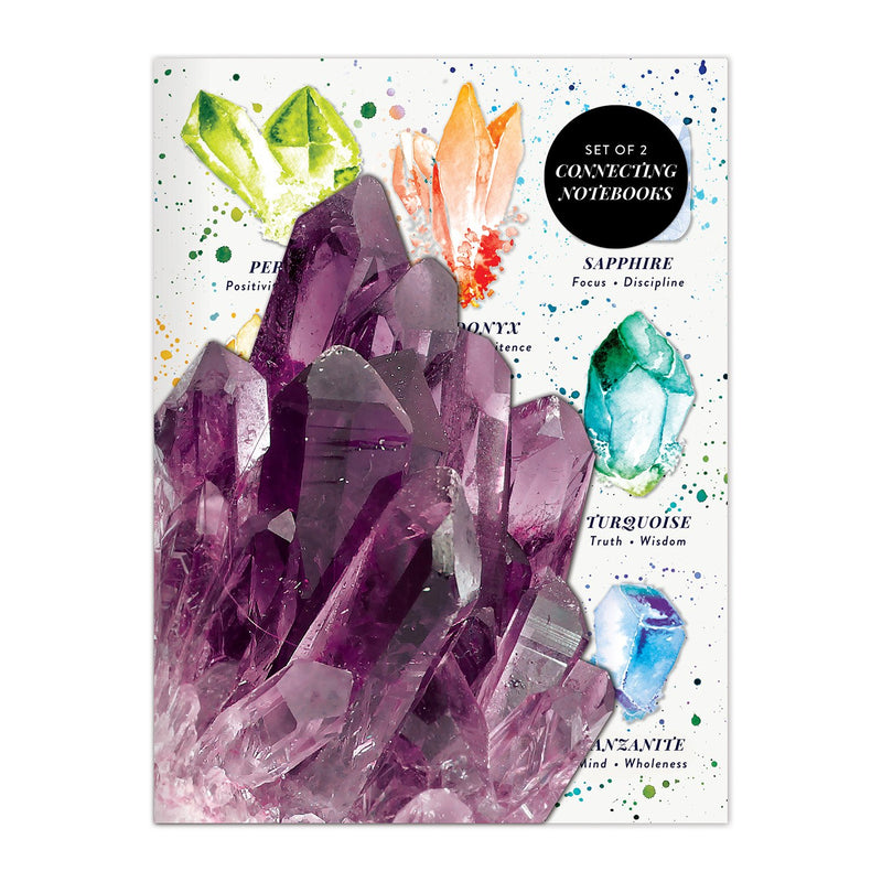 Crystals and Gems Connecting Notebook Set Journals and Notebooks Galison