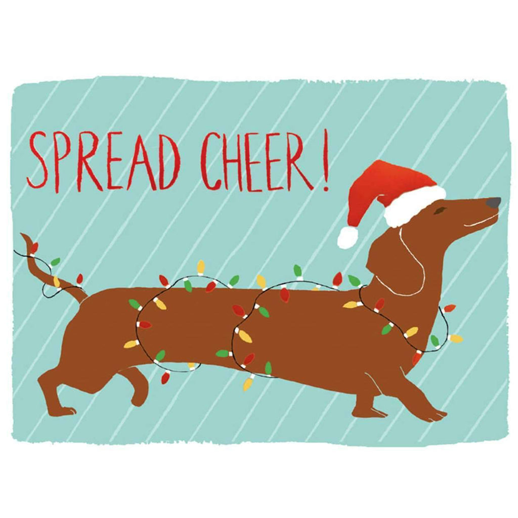 Dachshund Spread Cheer Holiday Embellished Notecards Holiday Notecards Galison
