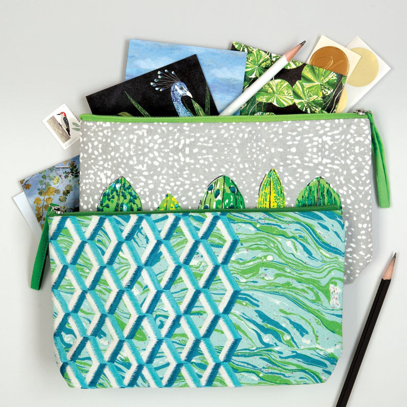 Designers Guild Jourdain Handmade Embroidered Pouch Journals and Notebooks Galison