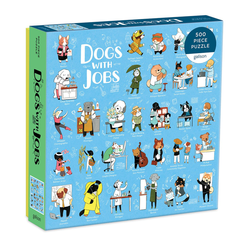 Dogs With Jobs 500 Piece Jigsaw Puzzle 500 Piece Puzzles Galison