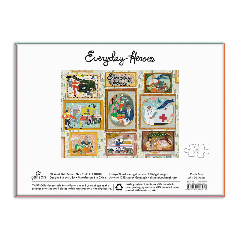 Everyday Heroes 1000 Piece Puzzle 1000 Piece Puzzles Galison