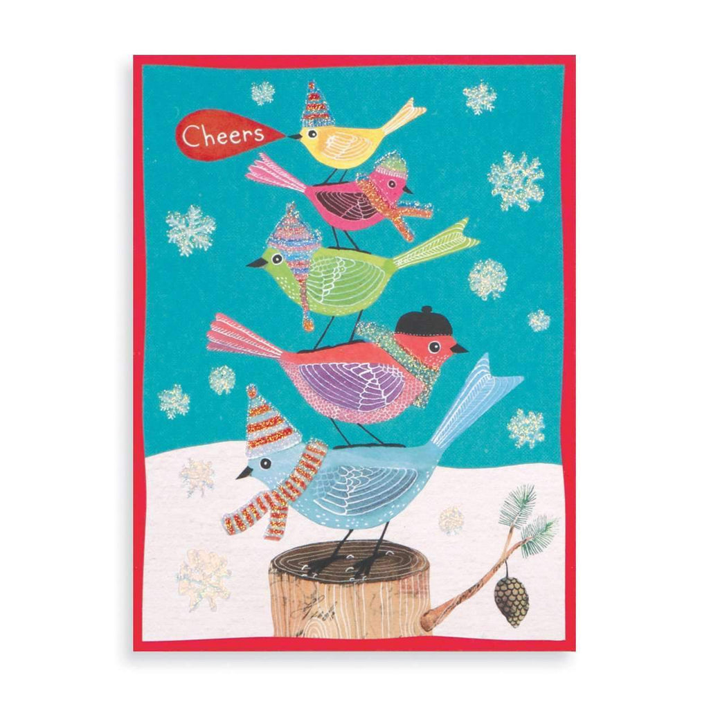 Festive Avian Friend Hol Glitz Holiday Notecards Galison