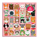 Festive Furballs 500 Piece Jigsaw Puzzle holiday 500 Piece Puzzles Galison