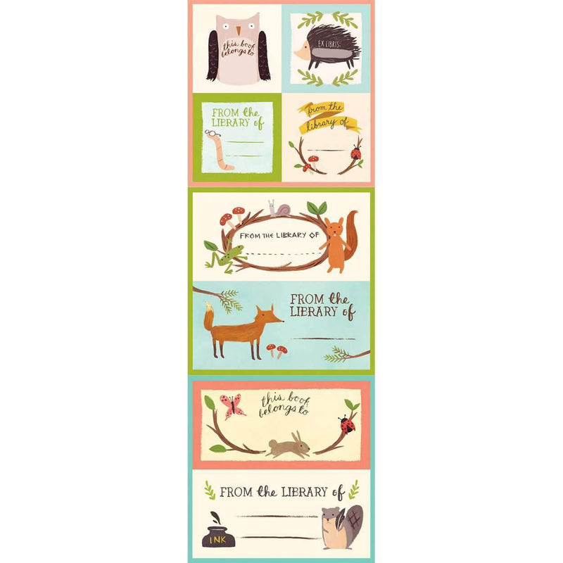 Forest Friends Bookplates Bookmarks Galison