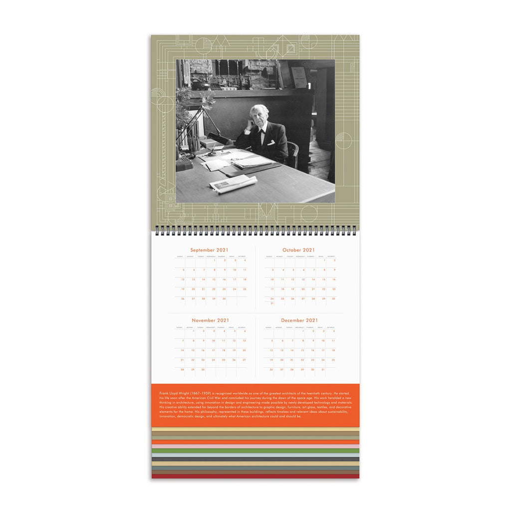Frank Lloyd Wright 2022 Tiered Wall Calendar Calendars Frank Lloyd Wright Collection