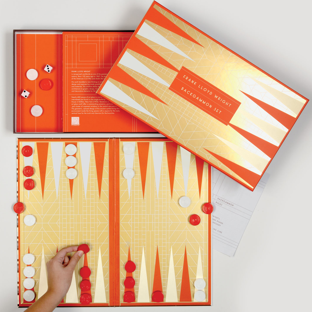 Frank Lloyd Wright Backgammon Set Backgammon Sets Galison