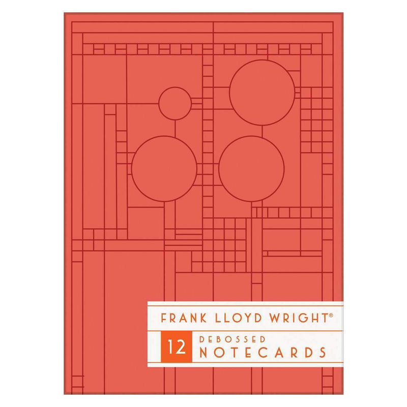 Frank Lloyd Wright Bright Geometric Debossed Notecards Greeting Cards Galison