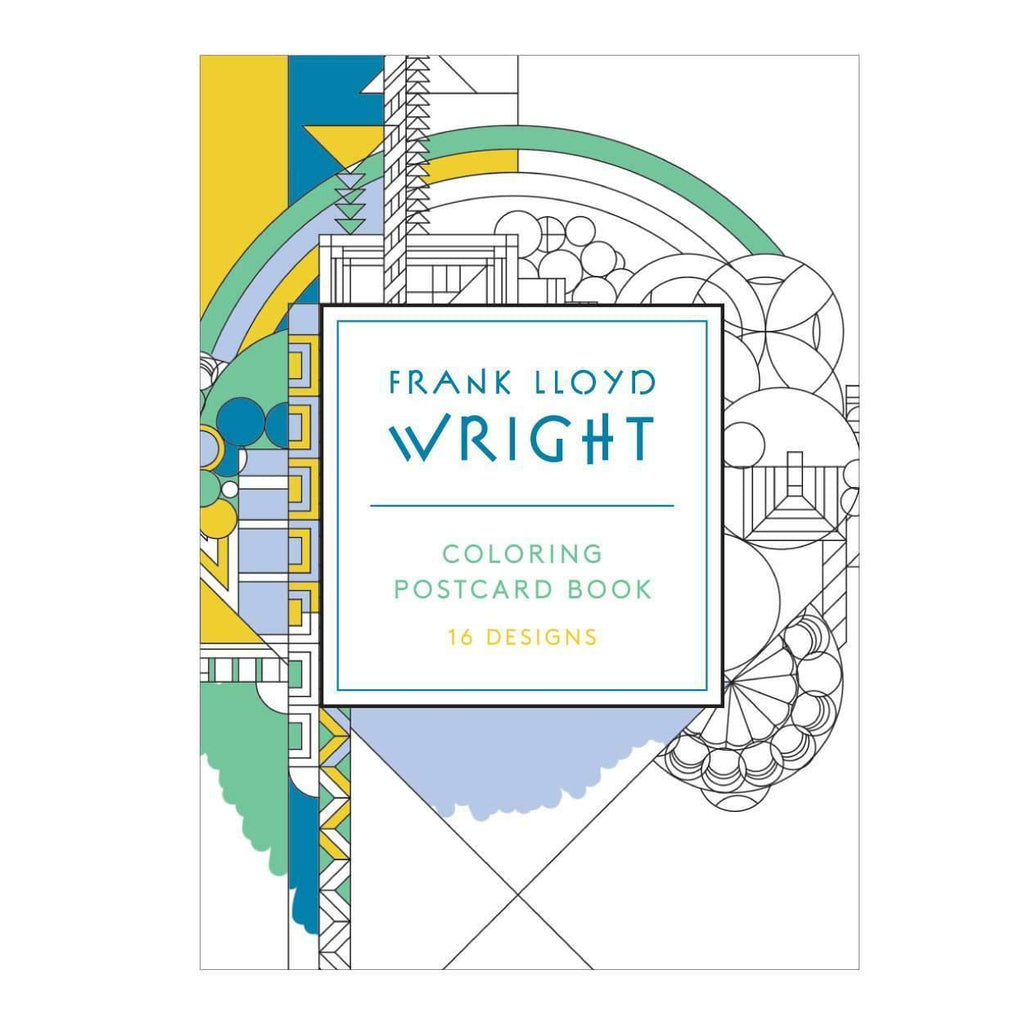Frank Lloyd Wright Coloring Postcard Book Postcard Books Galison