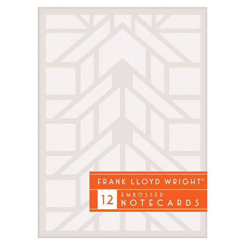 Frank Lloyd Wright Designs Embossed Notecard Set Greeting Cards Galison
