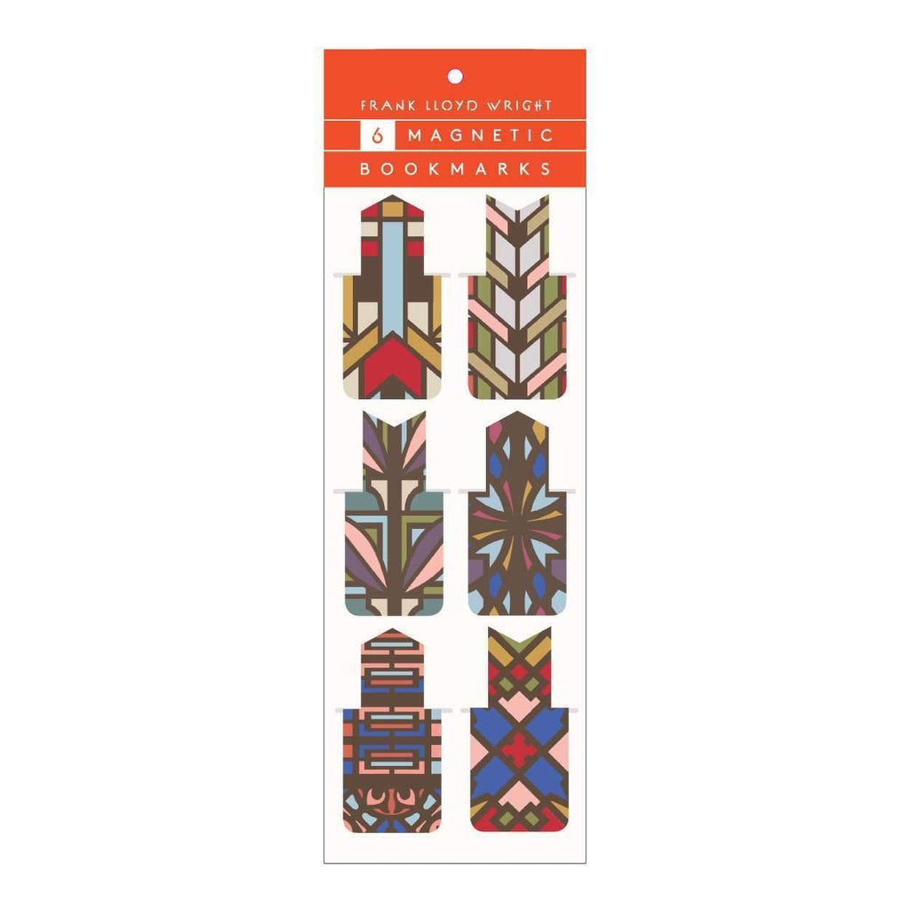 Frank Lloyd Wright Designs Magnetic Bookmark Set Bookmarks Galison
