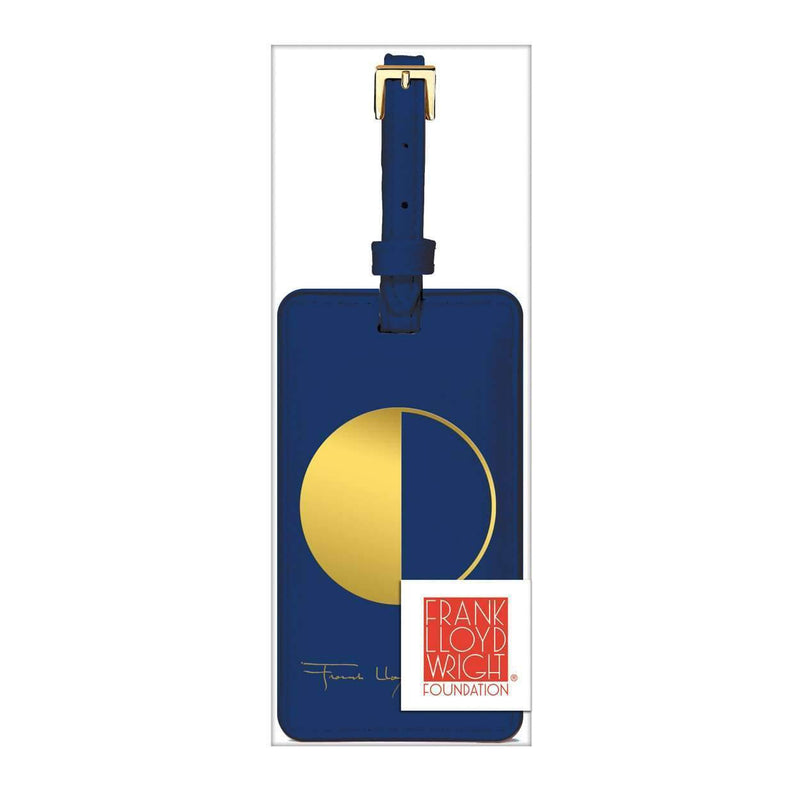 Frank Lloyd Wright Geometry Luggage Tag Travel Accessories Galison