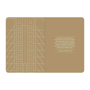 Frank Lloyd Wright Gilded Undated Planner Planners Galison