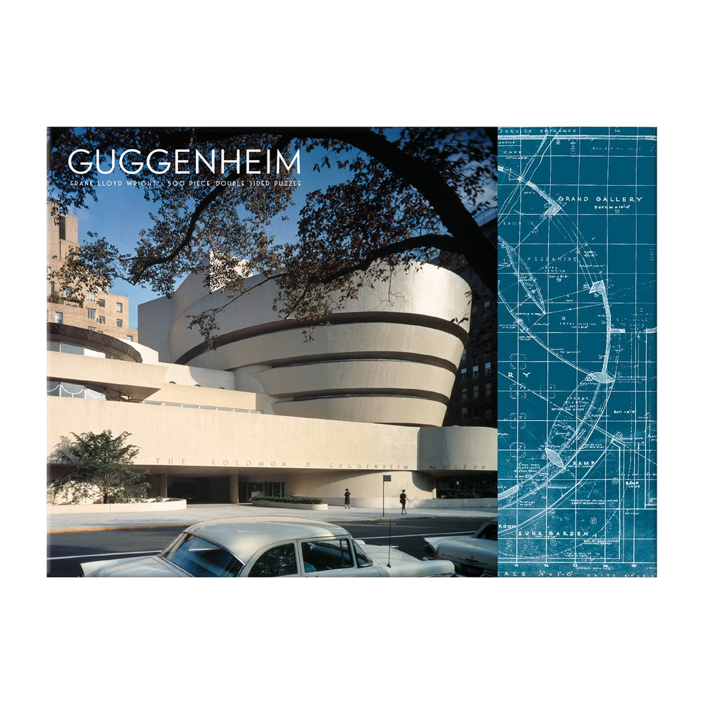 Frank Lloyd Wright Guggenheim Double Sided 500 Piece Puzzle Double Sided 500 Piece Puzzle Galison