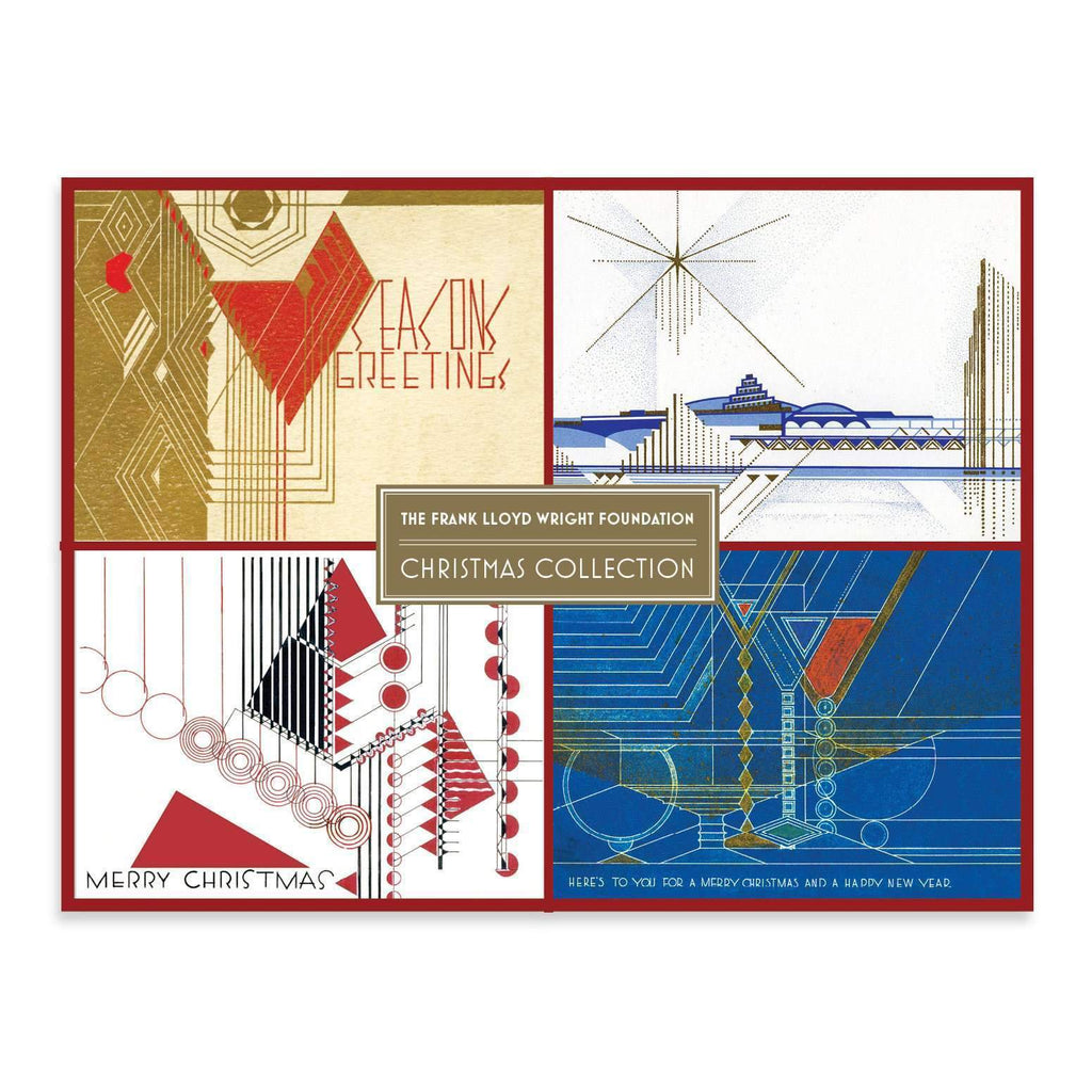 Frank Lloyd Wright Holiday Deluxe Notecard Collection Holiday Notecards Galison