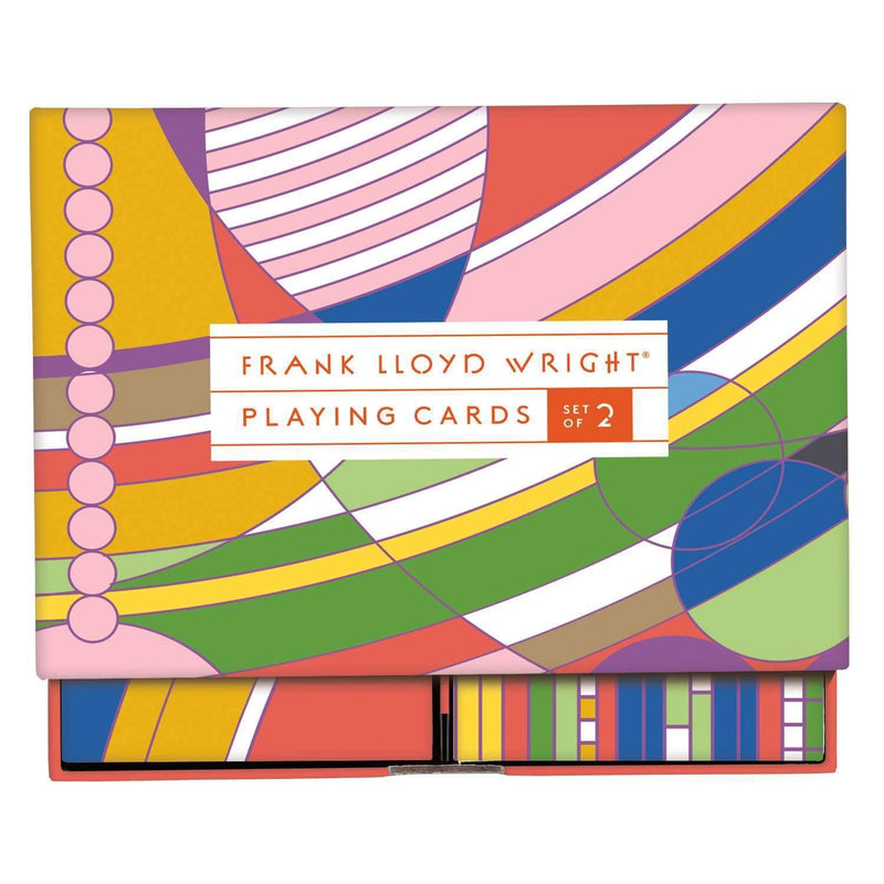 Frank Lloyd Wright Playing Card Set Playing Cards Galison